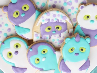 Decorated Hatchimals Cookies - How to make Hatchimals craft