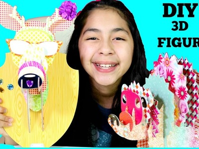 DIY 3D FIGURES 3D Head Case For School locker or Room Decoration| B2cutecupcakes