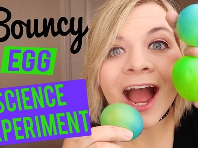 DIY BOUNCY EGG! - SCIENCE EXPERIMENT (FUN AND EASY). SoCassie