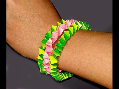 DIY Easy Bracelet-Paper Bracelet-Great Idea For Gift