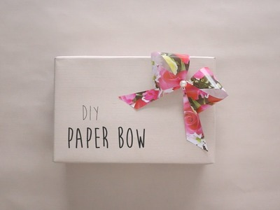 DIY: Easy Paper Bow