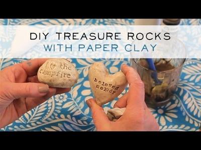 DIY Easy Paper-Clay Treasure Rocks - Part 1