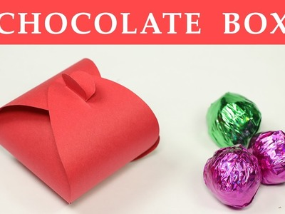 DIY Gift Box - How to Make a Small Paper Box for Chocolate Gift Packing