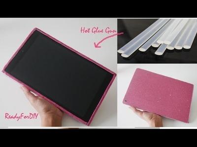 DIY Hot Glue Gun & Clear Plastic Tablet Cover | Tablet Case