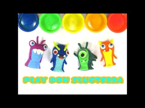 DIY How to Make Play Doh SlugTerra Monster Modelling Clay Creative for Kids