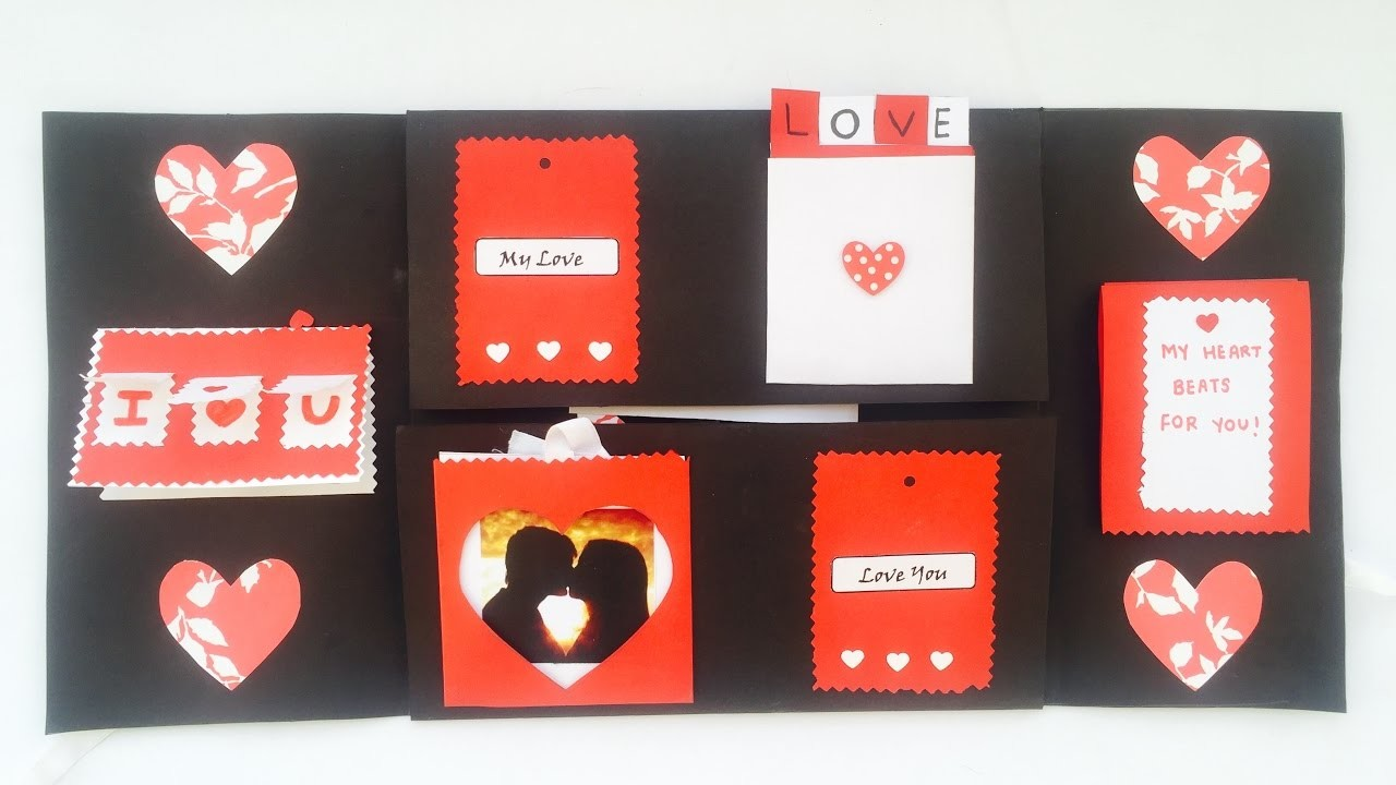DIY | Love❤️ Scrapbook for Valentine's Day | To express your feelings