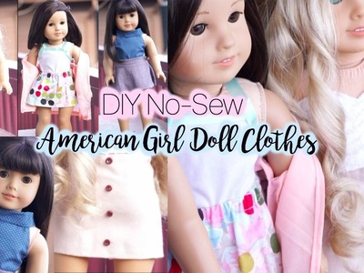 DIY No Sew American Girl Doll Clothes!