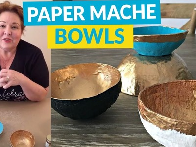 DIY Paper Mache Bowls Easy As 1-2-3!