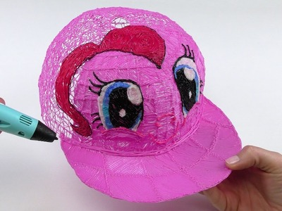 DIY Pinkie Pie Cap in real size How to Draw with 3D Pen My Little Pony Video for Kids