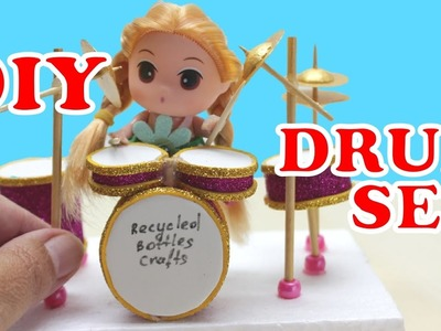 DIY Projects for Kids: How to Make a Mini Drum Set - Recycled Bottles Crafts Ideas