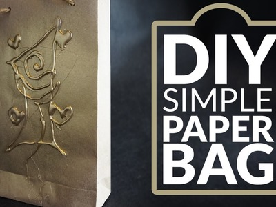 DIY simple Paper Bag - any size -for wine, gift .
