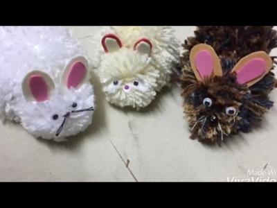 DIY : soft toys.easy yarn.wool rabbit
