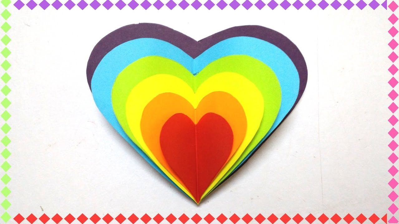 Diy Valentines Day Rainbow Heart Greeting Card Ideas For Your