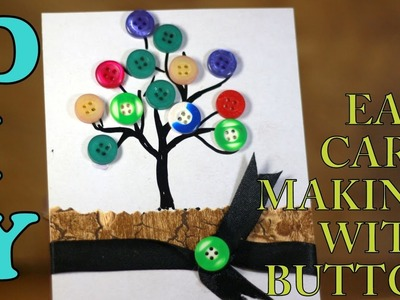 Easy button card making idea 2: TREE.DIY