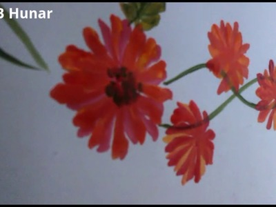 Fabric Painting-How To Add Flowers & Leaves To Create Pattern