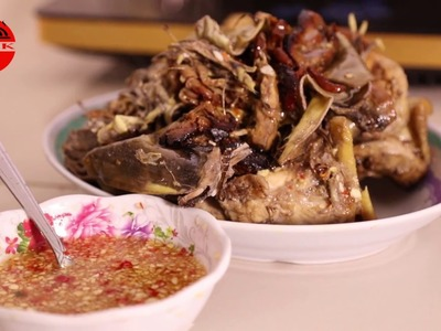 How to cook Asian Food - Chicken Banana Flower - Khmer Food