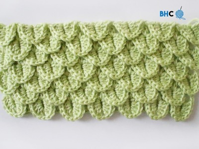 How To Crochet the Crocodile Stitch Left Handed