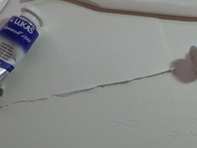 How to cut watercolor paper.  Arches 140 pound cold press.
