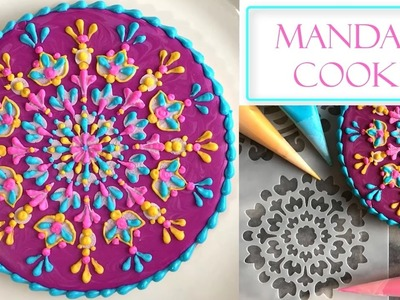 How to Decorate a Flower Mandala Cookie | Stencil & Henna Designs
