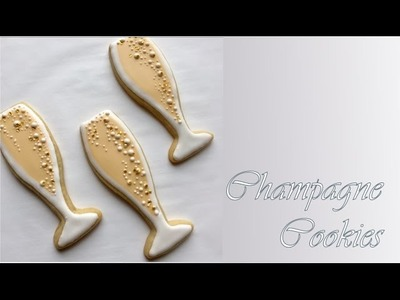 How To Decorate Champagne Cookies