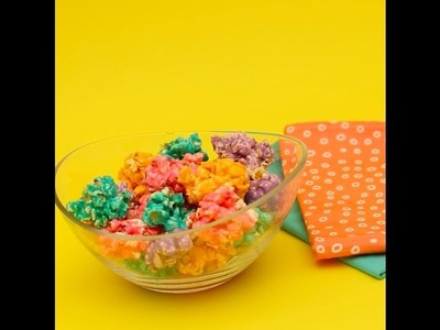 How to DIY Rainbow Popcorn