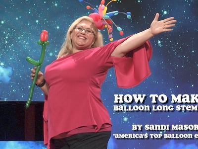 How To Make a Balloon Rose (Long Stem)