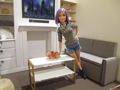 How To Make A Barbie Doll Coffee Table : DIY Barbie Doll Furniture
