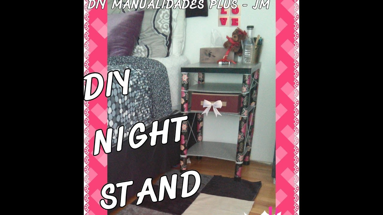 HOW TO MAKE A BEAUTIFUL NIGHT STAND. COMO HACER UNA HERMOZA MESA DE NOCHE (RECYCLING)
