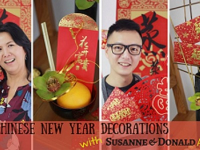 How to make a floral arrangement for Chinese New Year!!