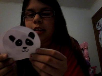 How to make a panda paper squishy