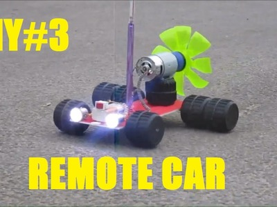 How to make a Remote Control Car at home [DIY#3]