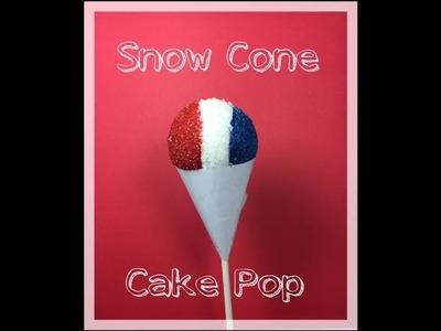 How to make a Snow Cone Cake Pop