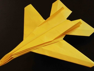 How To Make An Origami F14 Tomcat Fighter Jet Paper Airplane - Easy Paper Plane Origami Jet Fighter