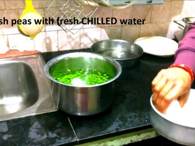 How to make frozen green peas at home | Preserve green peas at home