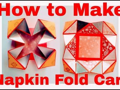 How to Make Napkin Fold Card - DIY | Easy Craft Ideas