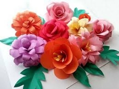 How to make paper flowers with tissue paper | how to make paper flower decorations