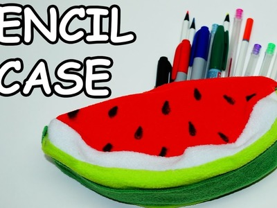 How to make pencil case. DIY Pencil Cases Watermelon. ideas for school supplies. Julia DIY
