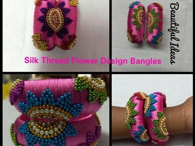 How to Make Silk Thread Flower Designer Bangle at Home.