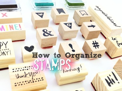 How to Organize Stamps for Your Planner