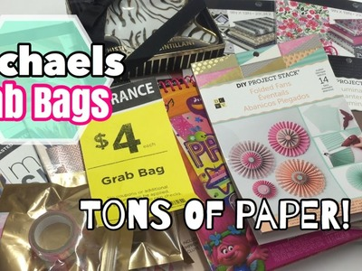 Michaels $4 Grab Bags : Loaded with PAPER!. SHOP WITH ME @ MICHAELS  | January 2017