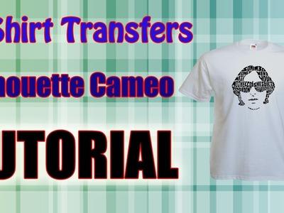 Print Cut Transfer Paper Using The Silhouette Cameo T Shirt  Tutorial