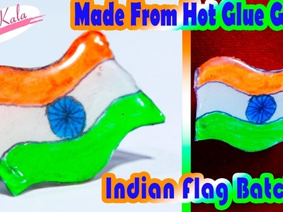 Tricolor (Indian Flag)  | Made out of glue stick   | DIY | Artkala