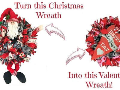 2017 Re-Purpose a Christmas Wreath to Valentine by Trendy Tree
