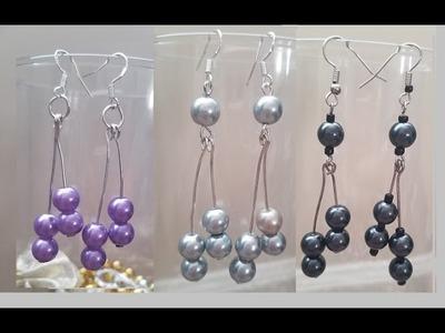 Aretes de perlas Diy Pearl earrings