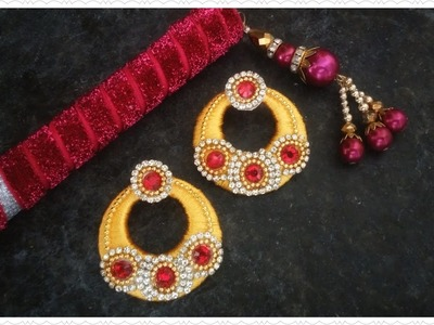 Designer Chandbali Silk Thread Earrings | Silk Thread Jhumka Earrings | Jewellery Making Tutorial