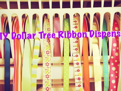 DIY Dollar Tree Ribbon Dispenser for $2 - Quick and Easy