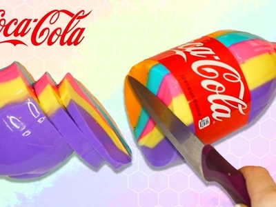 DIY GIANT How To Make Real Coca Cola Rainbow Colors Gummy Pudding TESTED!