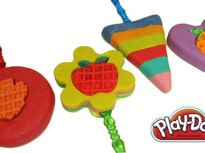 DIY How To Make Play Doh Rainbow Ice Cream and Cupcake