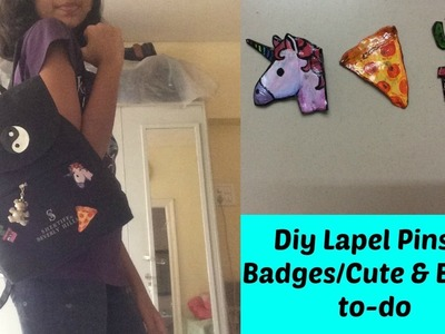 Diy Lapel Pins & Badges.Cute & Easy-to-do | Jynelle