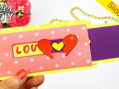DIY SLIDER CARD|  LOVE CARD Tutorial
